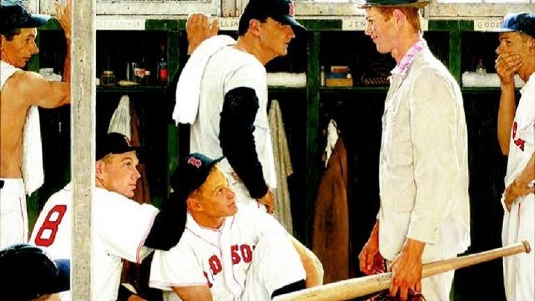 'The Rookie' by Norman Rockwell Leads Christie's American Art Sale