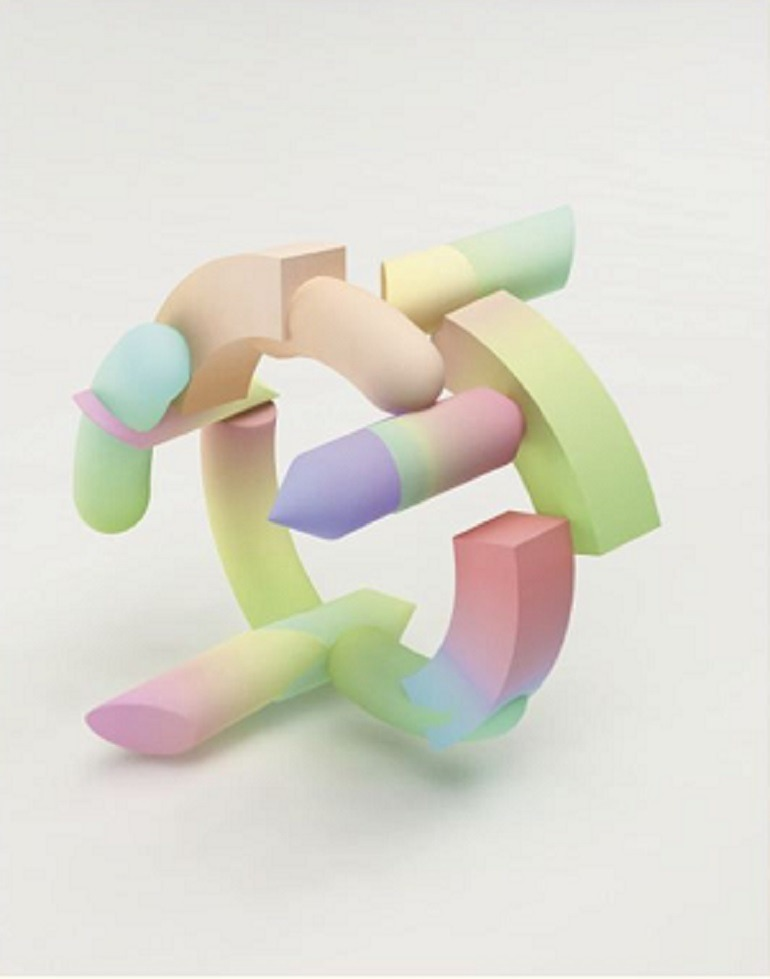 Image- Gradient Bangles printed from 3D printer. By Maiko Gubler, Hybridized Digital and wearable Jewelry