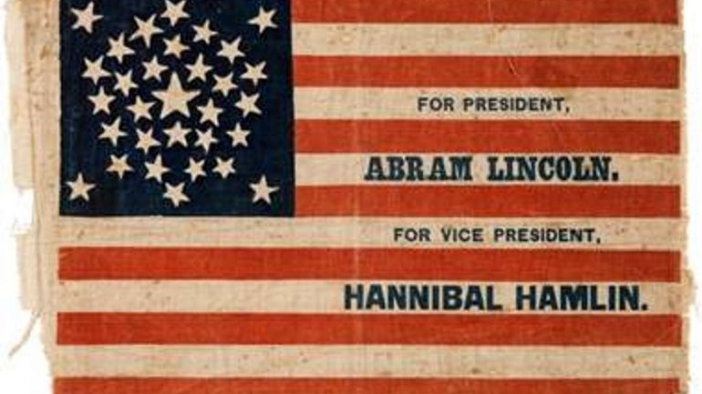 Time to Bid on Abraham Lincoln Campaign Flag