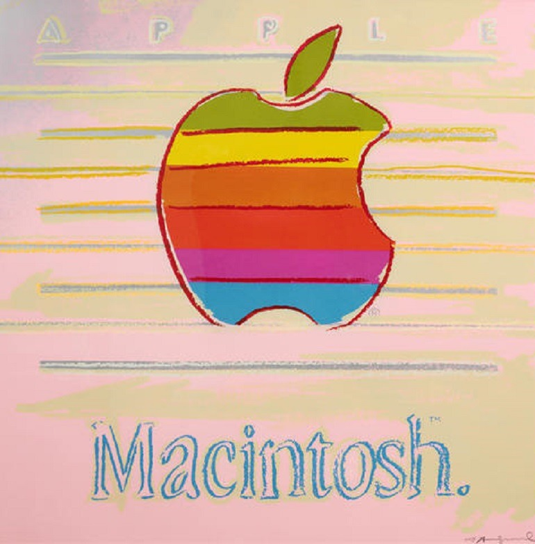 Image- Apple ad- by Andy Warhol (American, 1928-1987), had a nice outing at Bonhams art auction