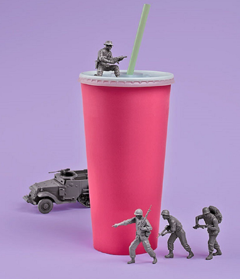 Image - Soldiers take over the big gulp of soda, filled with sugar and danger