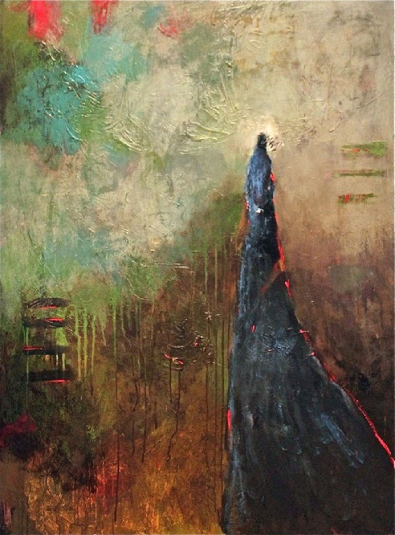 Image: Mixed Media painting titled Strong and Silent is an inspirational artwork by Paula Jones-Abstract art