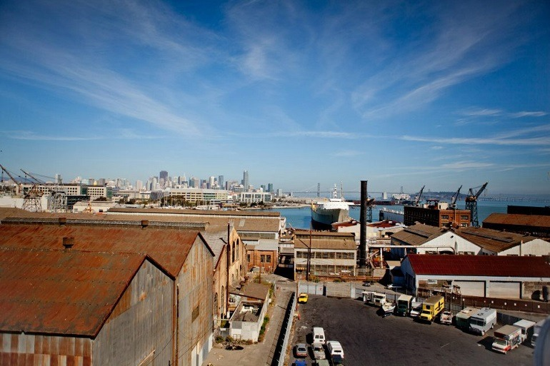 Image: Aerial view photograph of Pier 70 San Francisco Waterfront Site