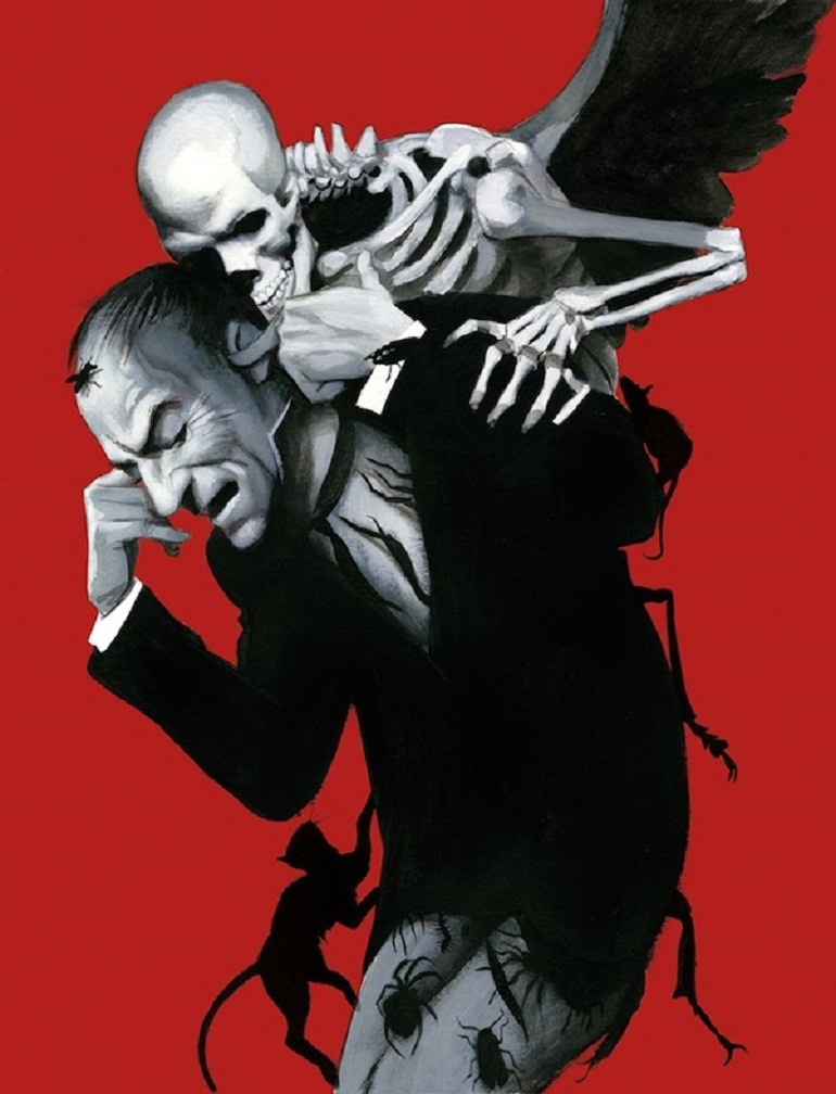 Image: Graphic Novel illustration of Attack of the Vampire by Fernando Vicente in Dracula - Illustrated Edition