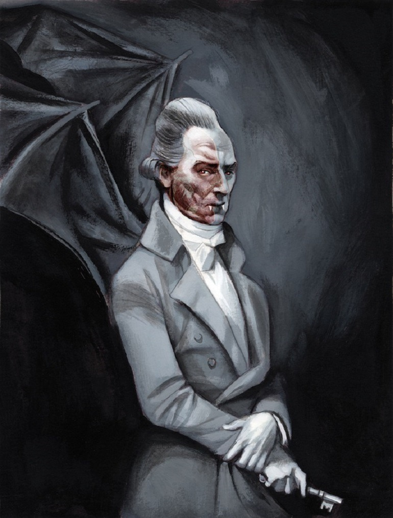 Image: Dracula by Fernando Vicente is a Graphic Novel depicting Dracula as tall, strong and mischievous