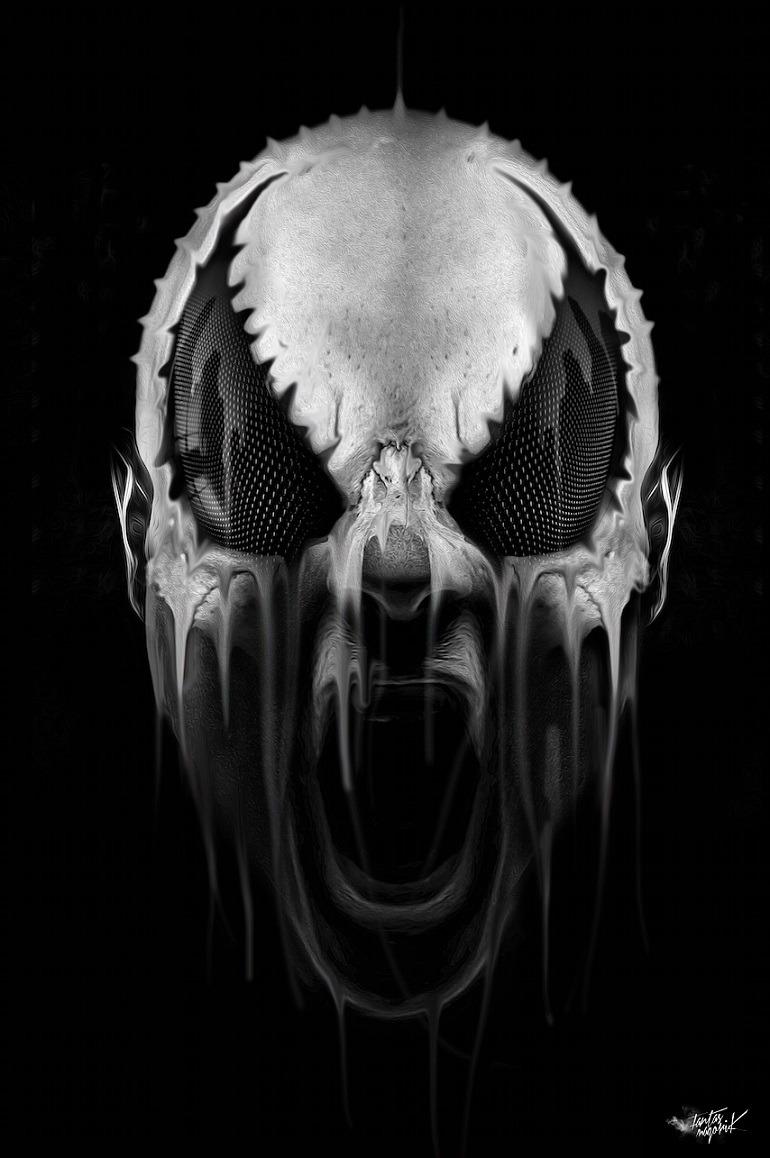 Image: Happy Halloween Super Hero Dripping Mask illustration and digital art