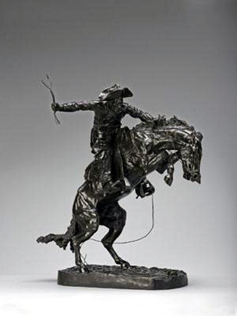 Image: Broncho Buster  by Frederic Remington, is a bronze sculpture from the collection of Denver Art Museum used as wager for Super Bowl XLVIII between Seattle Seahawks