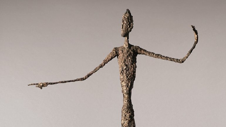 Video Details 'Pointing  Man' Sculpture by  Alberto Giacometti