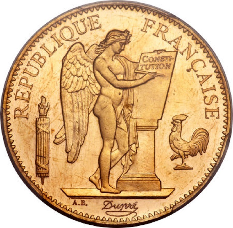 Image: France: Republic gold 100 Francs 1894-A MS64 PCGS, is one of the rare coins sold at Heritage Auctions