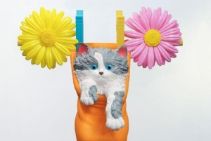 Image: Jeff Koons, Cat on a Clothesline (Orange), 1994-2001 on display in the Gagosian Gallery Booth at Art Basel-Art News