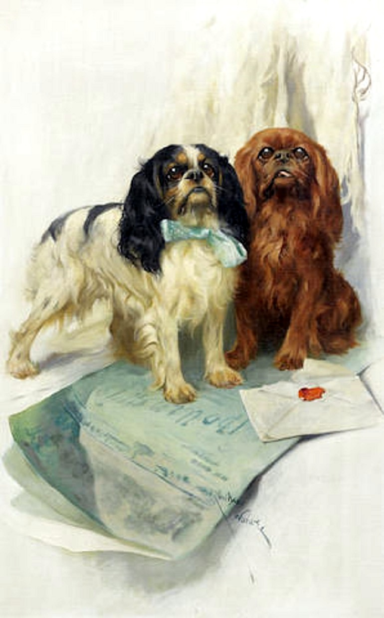 Image: Pen Friends by Arthur Wardle, RI is one the major highlights of paintings on dogs for sale at Bonhams