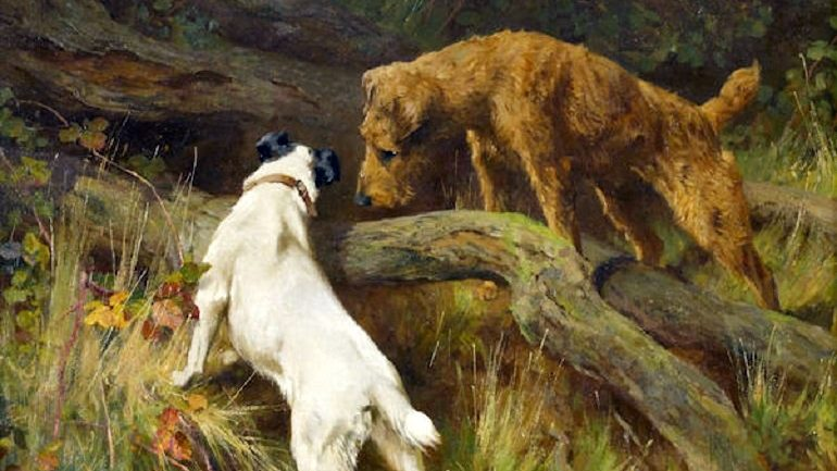 Dogs Show Character in Paintings for Sale at Bonhams