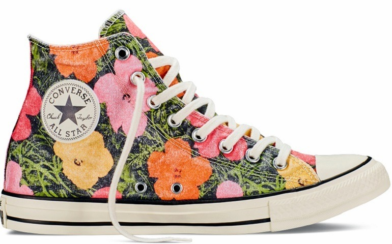 Image: Chuck Taylor All Star Andy Warhol Floral is one of Andy Warhol art-inspired fashion collection