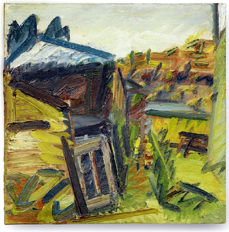 Image: The Studios II 1995 by Frank Auerbach