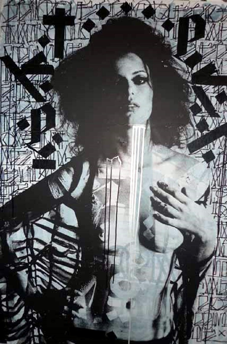 Image: Sonia (2010) by RETNA, is one of the works to be auctioned at the Julien's Auctions/Artsy Street Art Now auction