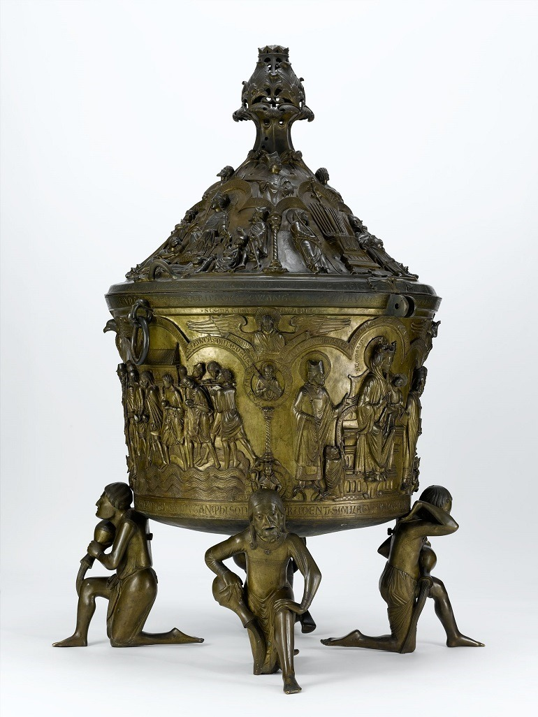 Image: Baptismal Font, German, one of the Medieval Treasures from Hildesheim