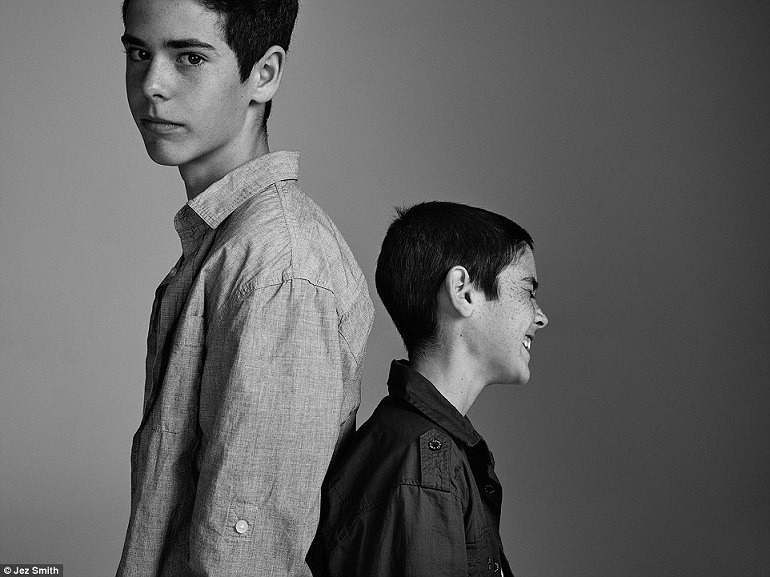 Image: Matt, 16, Dylan, 13, portraits of children raised by LGBT families on display in Sydney Australia accentuate LGBT RIGHTS