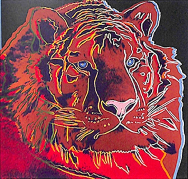 Image: Andy Warhol 'Siberian Tiger' one of the nine silk-screen prints stolen from a business in Los Angeles