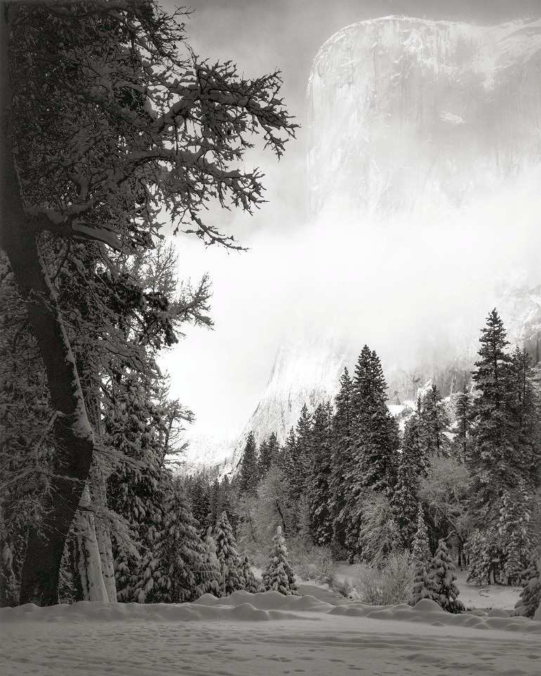 Image: Ansel Adams, El Capitan, Sunrise, Winter, Yosemite, added to the amount generated by the photographs of childhood innocence