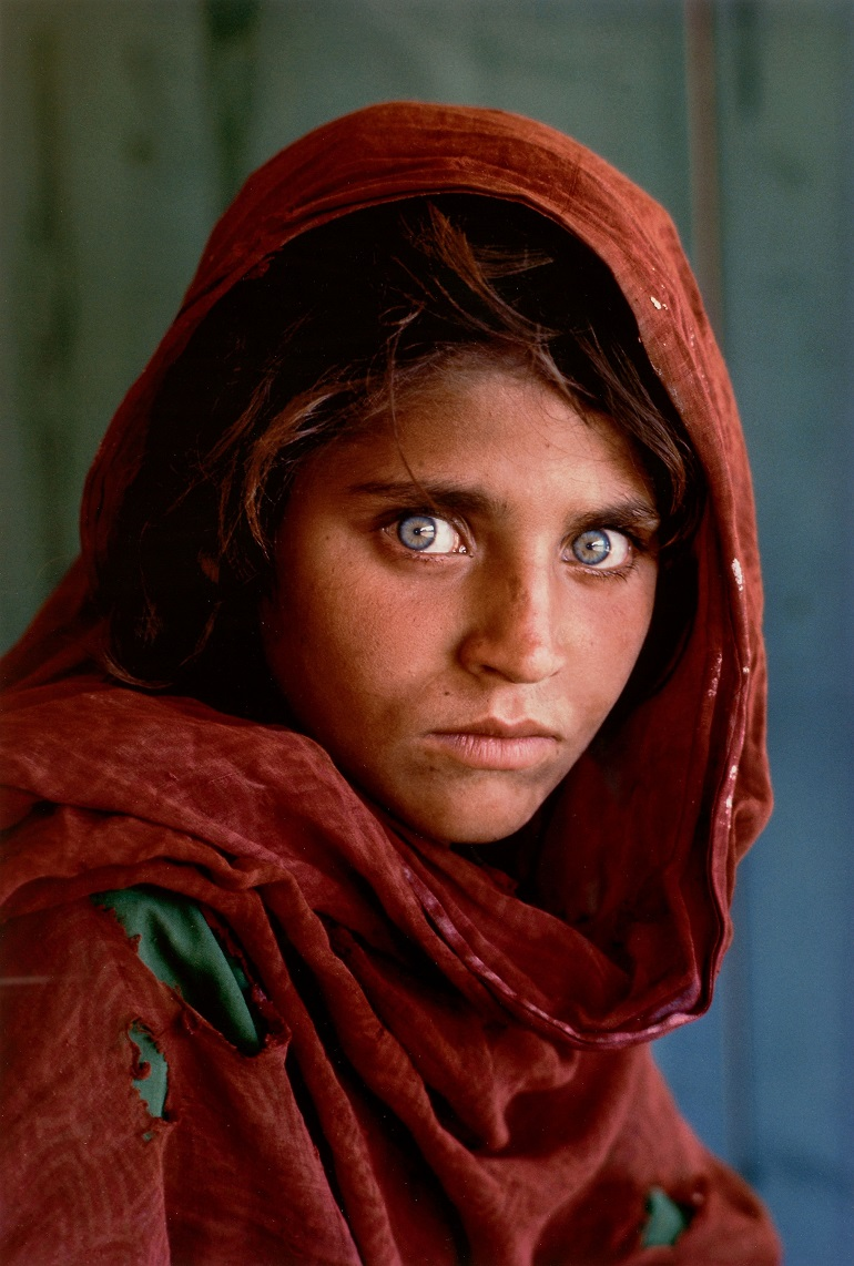 Image: Steve McCurry's Afghan Girl, Pakistan, 1985, added to the amount generated by the photographs of childhood innocence bringing the auction result $1 million.