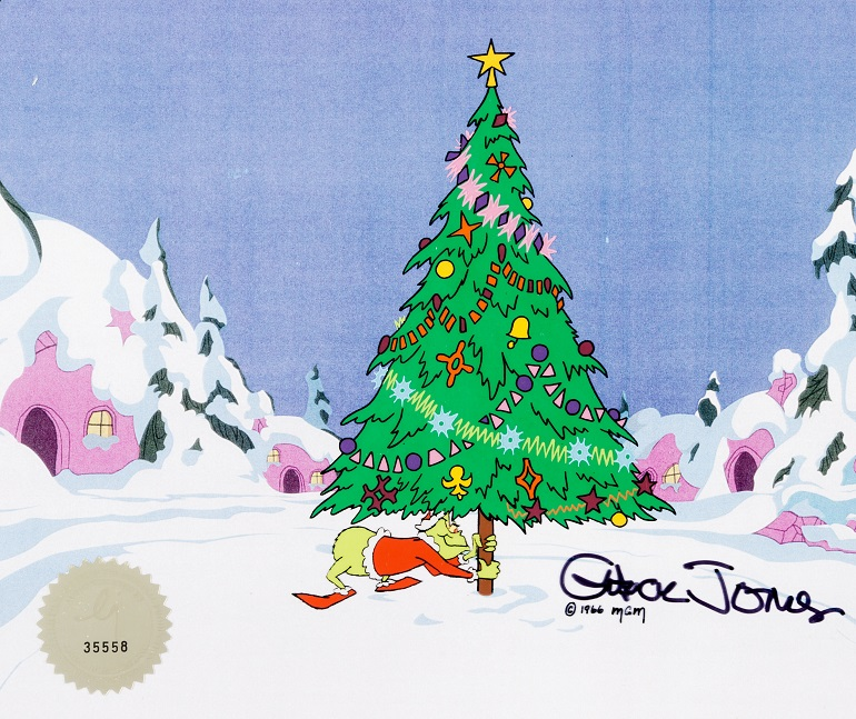 Image: Doctor Seuss How the Grinch Stole Christmas Production Cel (MGM, 1966