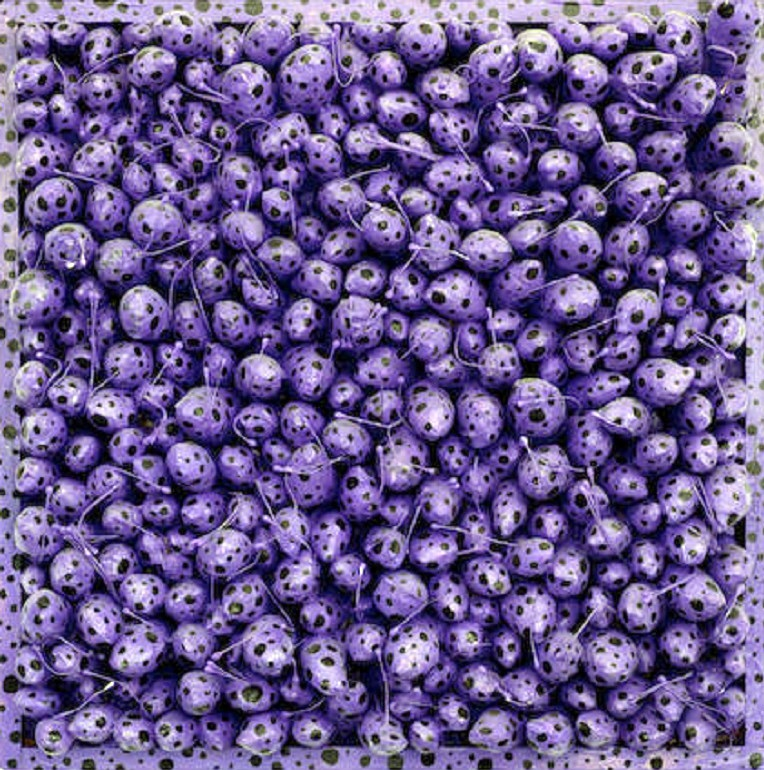 Image: Stamens Sorrow by Yayoi Kusama, was a major highlight at Bonhams Post-War and Contemporary art auction where Andy Warhol art top sales
