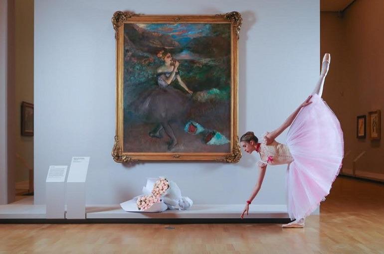 Image: Georgia Scott-Hunter, Artist of The Australian Ballet, at Degas: A New Vision at NGV International give life to Edgar Degas Dancers' paintings -770 x 510