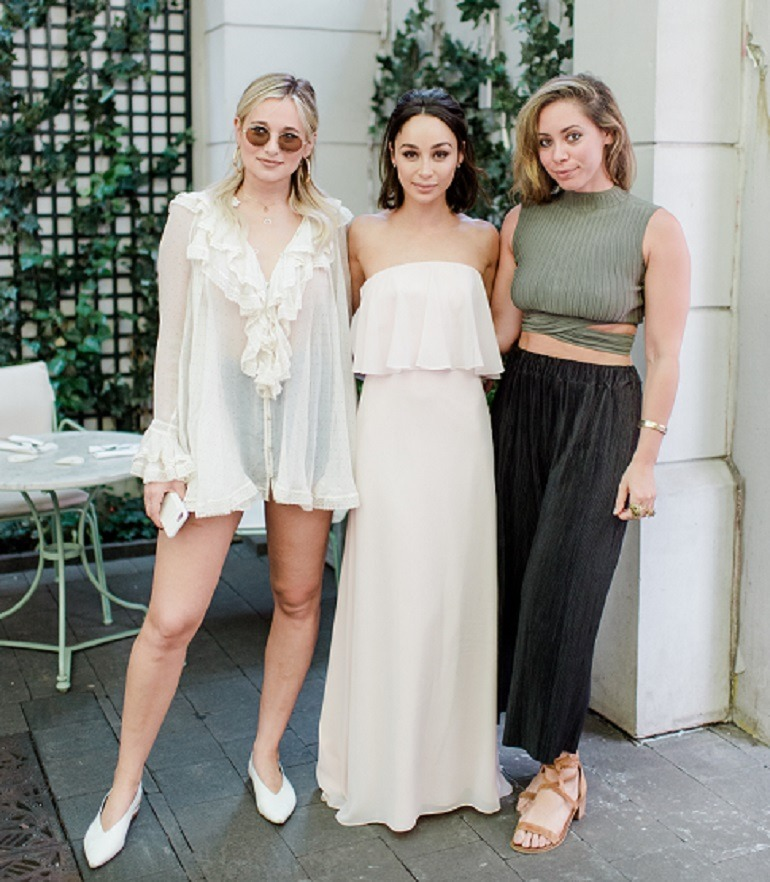 Image: Danielle Bernstein,  Cara Santana, and another guest at RYALE Vow To Be Chic event  introducing  'Cara',  a dress named after actress