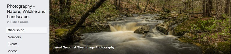 Image: Photograph of a lake on the banner of the Photography Nature Wildlife and Landscape Group, one of the Facebook Photography Groups that provide Photography tutorials and photography tips for aspiring and amateur photographers